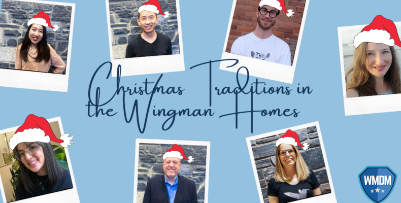 christmas - images of the wingman crew with their santa hats